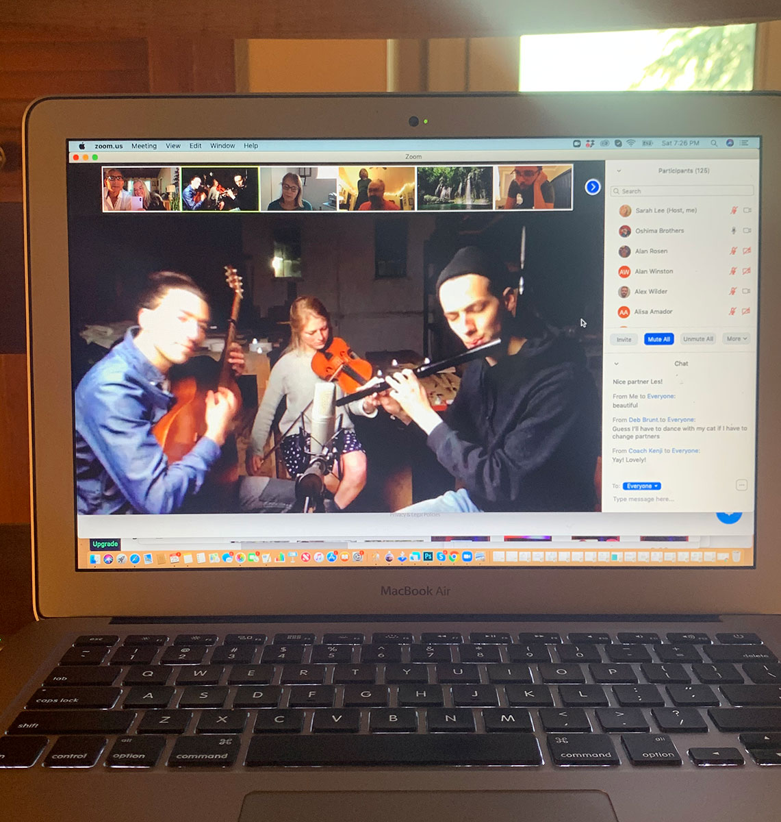 Online waltz party with live musicians