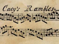 Handwritten sheet music for 'Caty's Rambles'