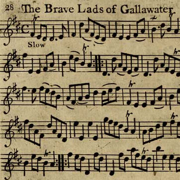 """Brave Lads of Gallawater"" sheet music"